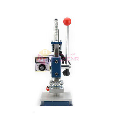 8*10CM NEW Leather Hot Foil Stamping Embossing Manual LOGO Marking Machine