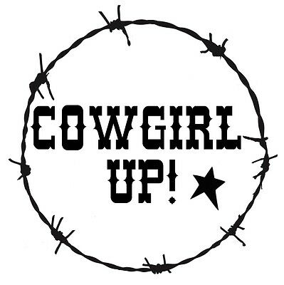 STENCIL COWGIRL UP! Barbed Wire Border Western Country Rustic You ...