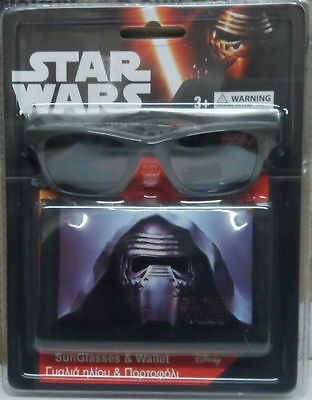Star Wars Sunglasses & Wallet 100% UV Protection Boys The Force Awakens Kylo Ren