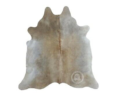 New Cowhide Rug Leather Cow Skin GREY BEIGE BRAZILIAN Cow Hide Upholstery