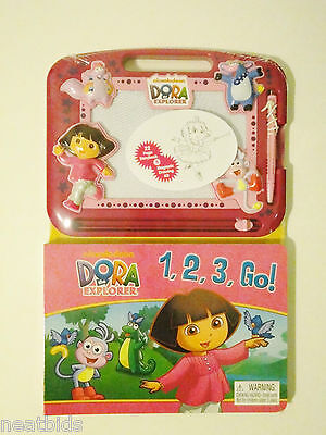 Dora the Explorer Toddler Fun Educational Magna Board with Counting Book 2-in-1