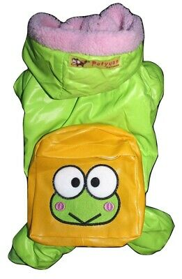 Dog Cat Clothes GREEN Coat Pants Jacket Overall Snowsuit Warm Winter Backpack