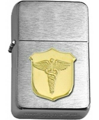 US Navy Corpsman Gold Insignia Brushed Chrome Star Lighter