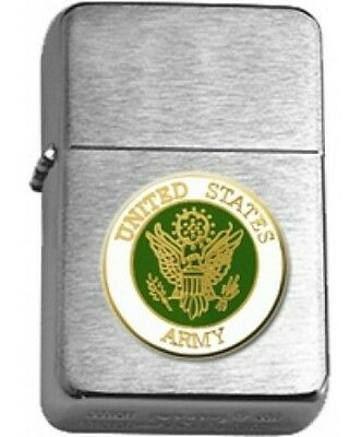 US Army Insignia Brushed Chrome Star Lighter