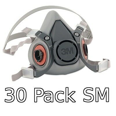 3M 6000 Series Respirator Small Half Mask Facepiece, 30 Pack, 6100