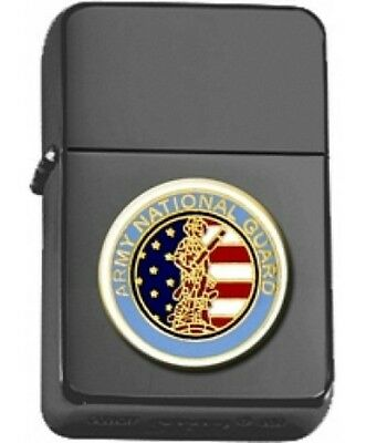 US Army National Guard Insignia Black Matte Star Lighter