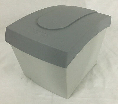 Vintage Gray & White Case Logic CD Disk Holder Storage Box for Desktop