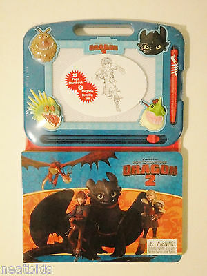 New! Educational Fun&Creative 2-in-1 How to Train Your Dragon Book & Magna Board