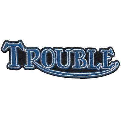 Lowbrow Customs Trouble Triumph Motorcycle Patch