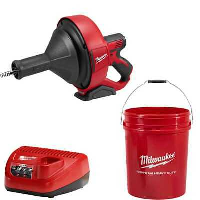 """M12 Drain Snake Cleaning Machine Kit w/ 5/16""""X25' Cable Milwaukee 2571-21 New"""