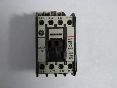 General Electric CR7CA10 Contactor 25A 3Pole 1NO 110/120V 50/60Hz  USED