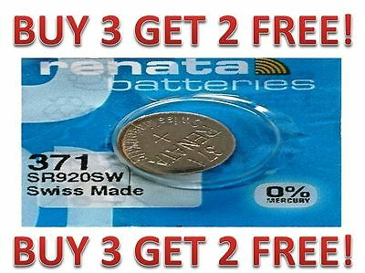 371 RENATA SR920SW D370 Watch Battery Free Shipping BUY 3 GET 2 FREE!!