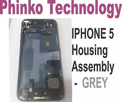 iphone 5 5G A1429 Complete Full Middle Frame Chassis Housing Assembly - GREY