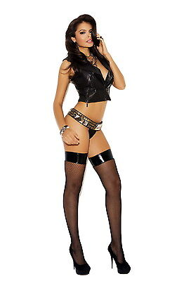 Hot Nightwear Fishnet Vinyl Top Stockings Tights Thigh Highs Hosiery Adult Women