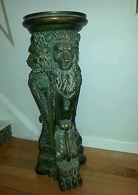 Three lion pedestool plant statue stand  pay on pick up local Philadelphia