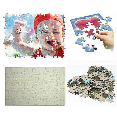 10pcs Rectangle Jigsaw Puzzle Heating Transfer Press DIY Sublimation Crafts