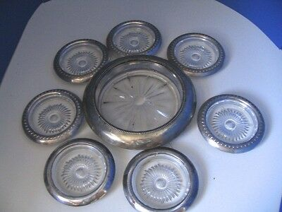 Frank M Whiting Sterling WIne Coaster 8 Pc Set