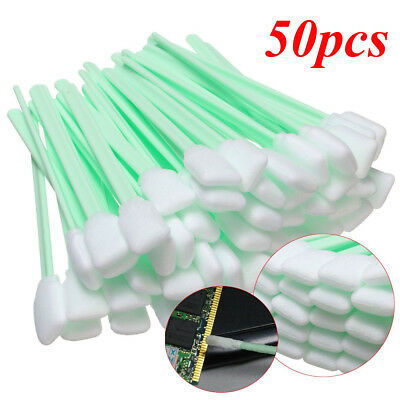 50Pcs Foam Tipped Solvent Cleaning Swab For Inkjet Printer Swabs Camera Lens
