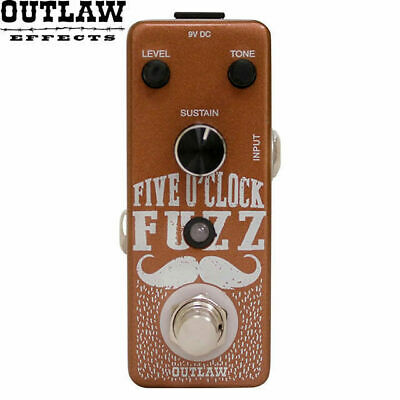 Outlaw Five O' Clock Fuzz Distortion Guitar Effect Pedal