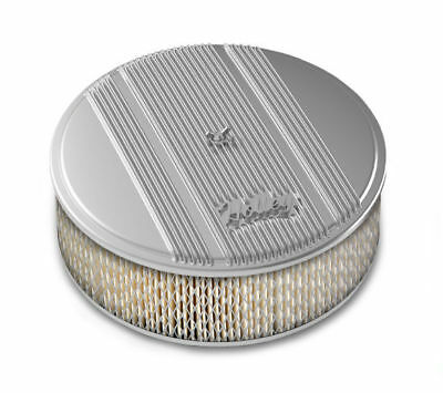 Holley 120-154 Air Filter Assembly Vintage Series Round 14 in. Diameter Polished