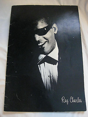 """Original 1965 Ray Charles Concert Program """"Light Out of Darkness"""""""