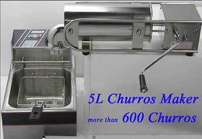 5L Capicity Churros-Professionsal Making Machine for More Than 600 Churros