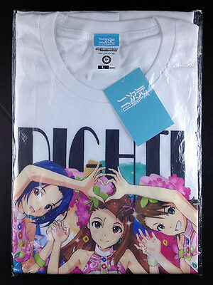 THE iDOLM@STER Idolmaster Azusa Iori Ami T-shirt L White x Full Color Cospa New