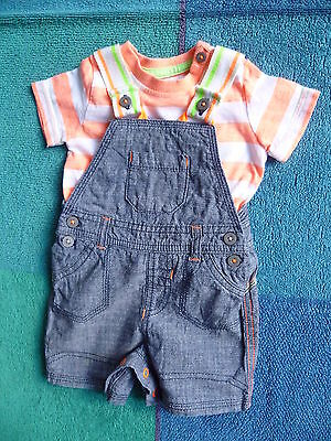 Baby clothes BOY 0-3m George short dungarees/T-shirt Spring/Summer BRAND NEW!
