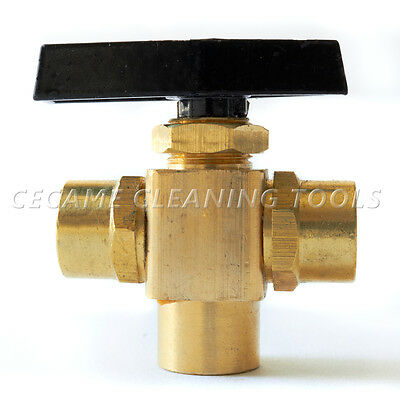 "Ball-Valve, 3 Way 1/8"" For Truckmounts Carpet Cleaning"