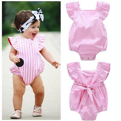 Newborn Infant Baby Girls Romper Jumpsuit Bodysuit Outfits Sunsuit Clothes 0-24M