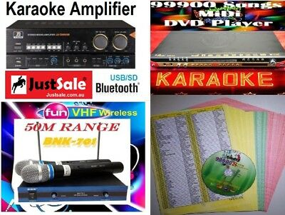 99900 English Tagalog Songs MIDI Karaoke DVD Player with VHF MIC & Amplifier