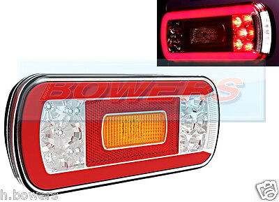 12V/24V Glow-Trac Halo Led Rear Left Or Right Tail Lamp Light Truck Trailer