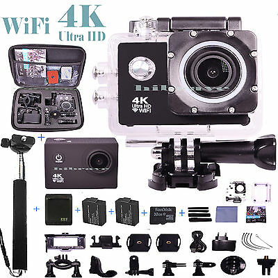 Go Pro Full 1080P HD Ultra 4K WiFi  Waterproof Sports Action Camera  Helmet Cam