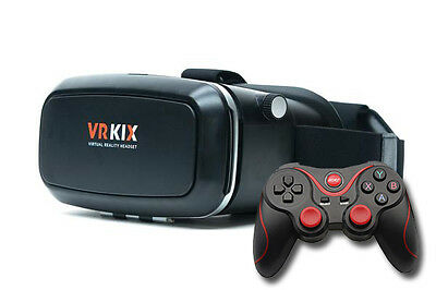 VR KIX Virtual Reality Headset 3D Glasses Goggles VR Viewer Android Controller