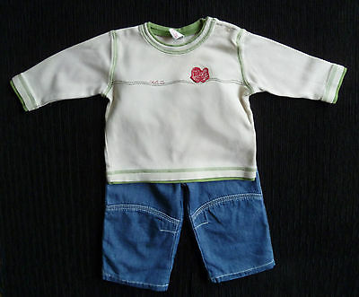 Baby clothes BOY 3-6m outfit Disney blue jean/NEXT coffee/green top COMBINE POST
