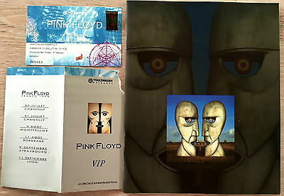 Pink Floyd Division Bell European Tour Programme With Ticket And Pin