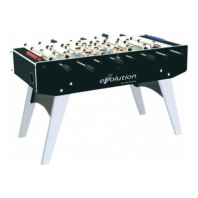 GARLANDO F-20 EVOLUTION football table - solid rods - folding legs Black