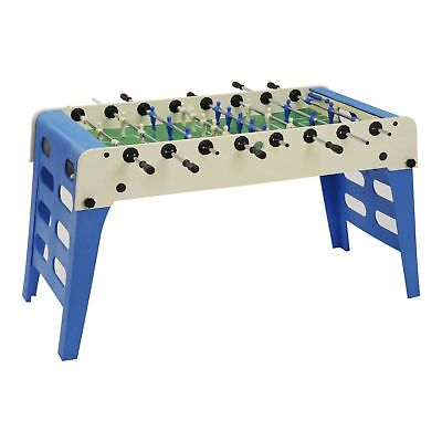 GARLANDO Open Air football table solid rods - folding legs Blue