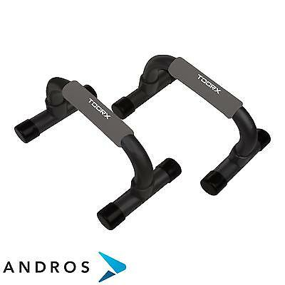 TOORX Push up bars with soft touch handle