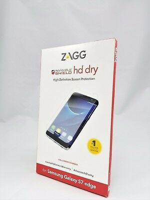 Zagg Invisible Shield HD Dry for the Samsung Galaxy S7 Edge NEW