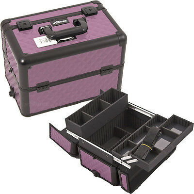 Cosmetic Train Case Aluminum Makeup Storage Organizer Trays Sunrise Professional