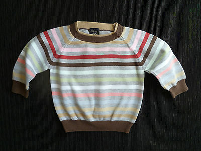 Baby clothes BOY 3-6m NEXT multi-stripe soft cotton knitted sweater SEE SHOP!