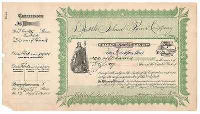 1900's Battle Island Power Co. New York Utility Stock Certificate