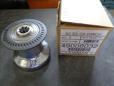 LEWMAR #8 One-Speed Chrome-Plated Bronze Non-Self-Tailing Winch 49008032
