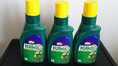 3 Bottles - Killex Lawn Weed Control - Herbicide - Concentrate - 1 L X 3