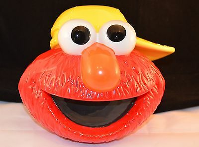 Enesco 1994 Jim Henson Sesame Street Elmo Head Cookie Jar Excellent 375