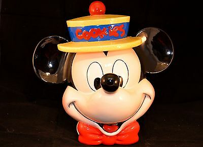 "Mickey Mouse Cookie Jar by Disney 1990s produced by Enesco 10 1/2"" tall Nice 252"