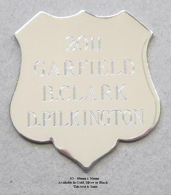 Engraved Shield - Engraved Plate - Free Engraving