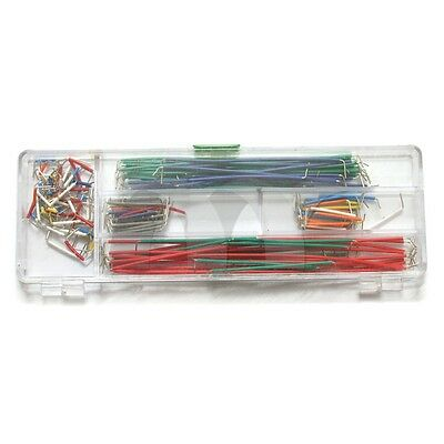 1x 140 Pcs Solderless Breadboard Jumper Cable Wire Kit for Arduino