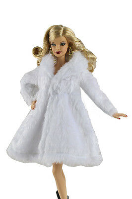 Fashion Winter fur Coats Clothes/Outfit For Barbie Doll+Boots 01